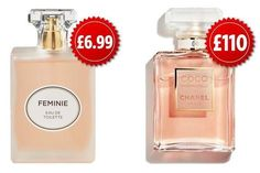 Aldi launches six perfumes for each – and they're dupes of Chanel's No 5 and Coco Mademoiselle - therezepte sites Cheap Perfume, Perfume Ad, Chanel Perfume, Best Perfume, Perfume Bottles, Beauty Dupes, Makeup Dupes, Coco Chanel, Mademoiselle Perfume