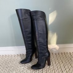 Shoes | Made In Italy Black Leather Over The Knee Boots | Poshmark Leather Over The Knee Boots, Vintage Boots, Riding Boots, Black Leather, Italy, Shoes, Fashion, Horse Riding Boots, Moda