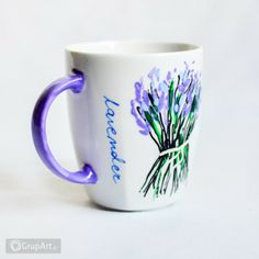 Grupart.pl - Kubek Lavender - Wnętrze - Ceramika Coffee Chalkboard, Coffee Cups, Lavender, Mugs, Tableware, Coffee Mugs, Dinnerware, Tumblers, Tablewares