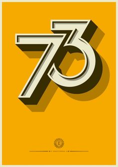 Number 73. 3D typography.