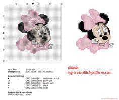 Disney Baby Minnie Mouse petit grille point de croix