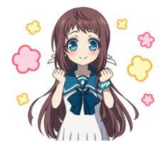 TV anime Nagi no Asukara sticker Mirai Kuriyama, Little Nightmares Fanart, Line Sticker, Otaku, Boy Or Girl, Fan Art, Stickers, Manga, Cute