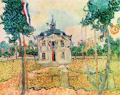 14 July in Auvers by Van Gogh. Order from DEKORAMI as a poster, canvas print, mural. Zamów jako obraz na płótnie, plakat lub fototapetę na DEKORAMI.pl.
