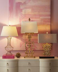 Open scrollwork lamps