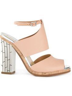 Shop Pollini chunky heel sandals   in Gaudenzi from the world's best independent boutiques at farfetch.com. Shop 300 boutiques at one address.
