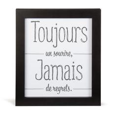 Image encadrée 27x33cm Noir et blanc - Toujours - Affiches décoratives - Affiches et déco murale - Salon et salle à manger - Décoration d'intérieur - Alinéa