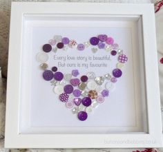 Button Heart Print  Every Love Story is by ButtonsandBobbinsUK