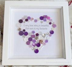 Every Love Story is beautiful Button Heart by ButtonsandBobbinsUK