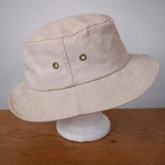 4e921d6647f Vintage LL BEAN Thick Canvas Safari Fishing Wide Brim Bucket Hat Womens XL  24