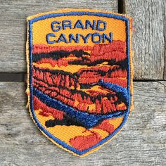 LAST ONE! Grand Canyon Vintage Souvenir Travel Patch from Voyager by HeydayRoadTrip on Etsy