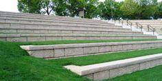 Low landscape retaining walls