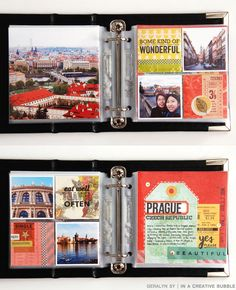 A great way to tell a story with your travel photos. The layout is pretty consistent throughout, so you can really create this on autopilot-- (i.e. you don't have to think too much about the design as your going only which photos you want to highlight)!