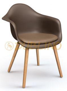 DL MONZA SEAT - Tölgyfa lábas, műanyag ülőhéjú szék