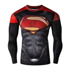 Fitness Compression Shirt Crossfit Bodybuilding Men T shirt 3D Printed Superman Top