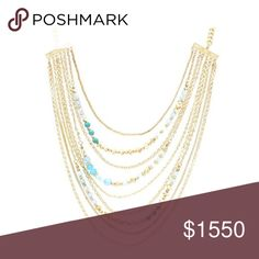 Sparkling sage necklace Accent layered necklace with small detailing, makes any simple look a true stunner. Price will drop when item arrives Sparkling sage  Jewelry Necklaces