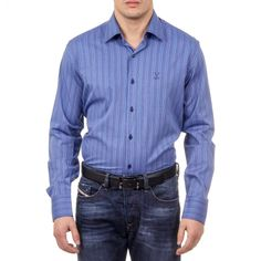Astonishingly gorgeous and exquisite, Authentic, brand new V 1969 Italia Mens Classic Neck Shirt 377 ART. All V 1969 Italia Men's Belts are Denim Button Up, Button Up Shirts, Versace, Women Wear, Shirt Dress, Classic, Long Sleeve, Sleeves, Mens Tops