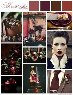 Marsala wedding inspiration.