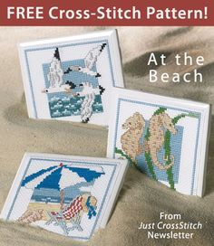 At the Beach download from Just CrossStitch newsletter. Click on the photo to access the free pattern. Sign up for this free newsletter here: AnniesNewsletters.com