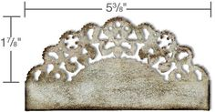Tim Holtz On the Edge Die - Distressed Doily
