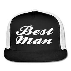 fe94f23e5c7 Best Man Trucker Hat Cap Design ~ 2488 A Good Man
