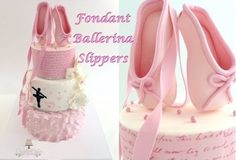 ballet shoe cake topper tutorial by Creative Cakes by Sharon