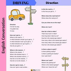 Vocabulary and expressions we use to talk about driving on streets and highways