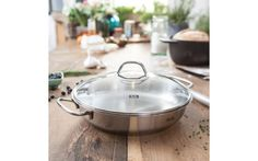 """Specialty Cookware - Products - 10"""" Original Profi Serving Pan with Lid - Fissler USA"""