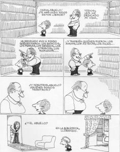 Everything & Nothing: Quino - ¡Qué presente impresentable! (What an Unpresentable Present! Smart Humor, Lucky Luke, Social Art, Political Art, Humor Grafico, Cartoon Games, Amazing Adventures, I Love Books, Funny Comics