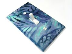 Blue Silverleaf Batik Light Switch Cover Home by ModernSwitch, $6.00