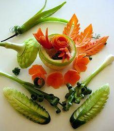 Arte con Frutas y Verduras