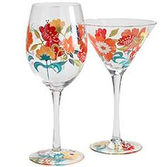 I can just see my favorite cocktails in these pretty spring glasses!
