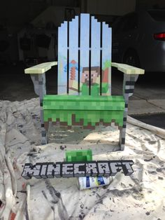Minecraft chair!! So wish I had this