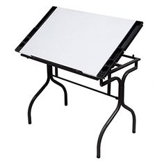 Studio Designs Folding Craft Station-Black Trim with White Top - You sit at such a desk to create professional-quality work, so why should your desk demonstrate anything less? The Studio Designs Folding Craft Station. Black Furniture, Home Office Furniture, Arts And Crafts Supplies, Hobbies And Crafts, Art Supplies, Office Supplies, Steel Drawing, Craft Station, Craft Desk