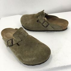 Birkenstock Boston Beige Suede Clogs Slides EU 39 Ladies 8 Men 6 US #Birkenstock #Clogs