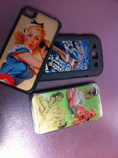 iPhone & Samsung cover with your own photo or design on an aluminium backplate