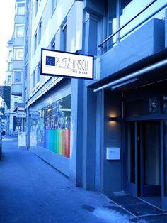 LED Stechschild Platzhirsch in Luzern, Bar am Hirschplatz in Luzern