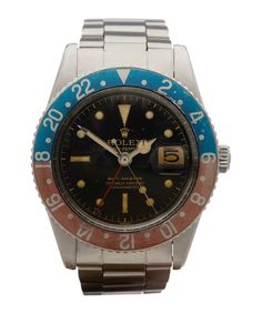 Launched in 1954, the Rolex GMT-Master was the official timepiece of Pan-Am Airlines, allowing pilots who flew around the globe to keep track of the time at home. One of the first adaptations of the original GMT-Master design, this 1958 piece showcases the coveted Pepsi 2-colour bezel... yours for a mere £30,000!