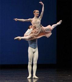 Iana Salenko, Principal, and Dinu Tamazlacaru, Soloist, Berlin Ballet in Tschaikovsky Pas de Deux; photo: Enrico Nauwrath