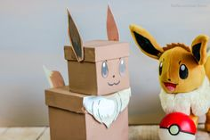 If your kiddo is like mine, they need this Pokemon Eevee Valentine box in their life. No doubt, this epic Valentines mailbox has a permanent home. Pokemon Valentines Box, Valentine Boxes For School, Valentinstag Party, Pokemon Eevee, Cool Diy, Pokemon Party Bags, Valentine Crafts, Valentine Wreath, Valentine Ideas