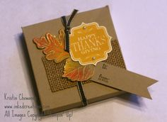 Thanksgiving Treat Box made using the envelope punch board.