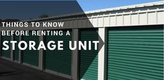 Important Things that You Must Consider Before Renting a Storage Unit  #Storage #Moving #Selfstorage