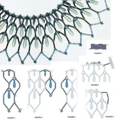 Necklace with icicles The second ring is much easier and faster to weave. You will need the teardrop-shaped beads, blue beads and blue glass beads. With the help of detailed diagrams, you will easily cope with this problem and to make themselves beautiful piece of jewelry from beads.
