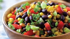 Southwestern Black Bean, Corn, and Tomato Salad Recipe Winter Salad Recipes, Tomato Salad Recipes, Summer Recipes, Nopales Salad, Black Bean Salad Recipe, Salsa Recipe, High Protein Salads, Cooking Recipes, Healthy Recipes