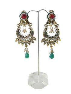 """Dangle Earrings Designer 1gm Gold Plated Bollywood Chandeliers """"Tarini Jewels"""",http://www.amazon.com/dp/B00FVTMJ6I/ref=cm_sw_r_pi_dp_7uczsb0RQC2A0MHM"""