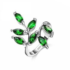 Beautiful Emerald Leaf Ring    https://zenyogahub.com/collections/jewellery/products/beautiful-emerald-leaf-ring