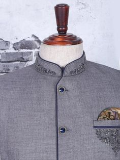 Shop Grey jodhpuri suit for wedding online from India. Latest Mens Suit Designs, Latest Suit Design, Prince Suit, Buy Suits, Wedding Online, Designer Suits For Men, Maybach, Declaration Of Independence, Men Online