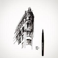 Sharp corner. #sketch #architecture | Flickr - Photo Sharing!