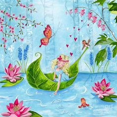 Thumbelina 1 Painting by Caroline Bonne-Muller - Thumbelina 1 Fine Art Prints and Posters for Sale