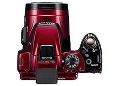 Nikon Coolpix P500 Red Digital Compact Camera