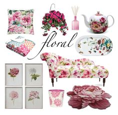 """""""Floral"""" by caymansunshine ❤ liked on Polyvore featuring interior, interiors, interior design, home, home decor, interior decorating, Juliska, Designers Guild, LAFCO and Worlds Away"""